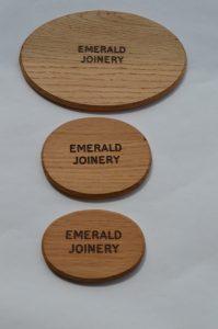 Solid Oak Engraved Plaques